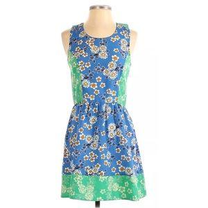 Freebird Blue Green Floral Boho Racerback Dress